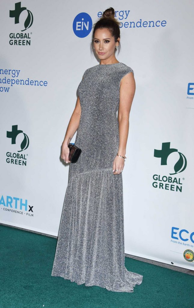 Ashley Tisdale at the 15th Annual Global Green Pre-Oscar Gala in Los Angeles 02/28/2018-2