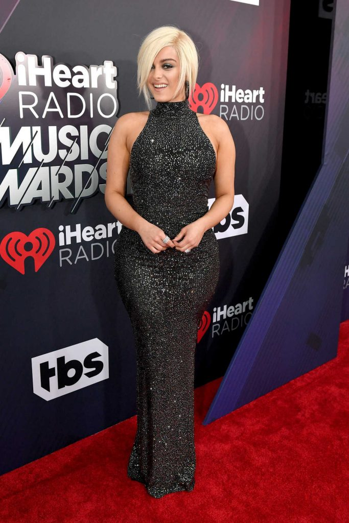 Bebe Rexha at 2018 iHeartRadio Music Awards in Inglewood 03/11/2018-2