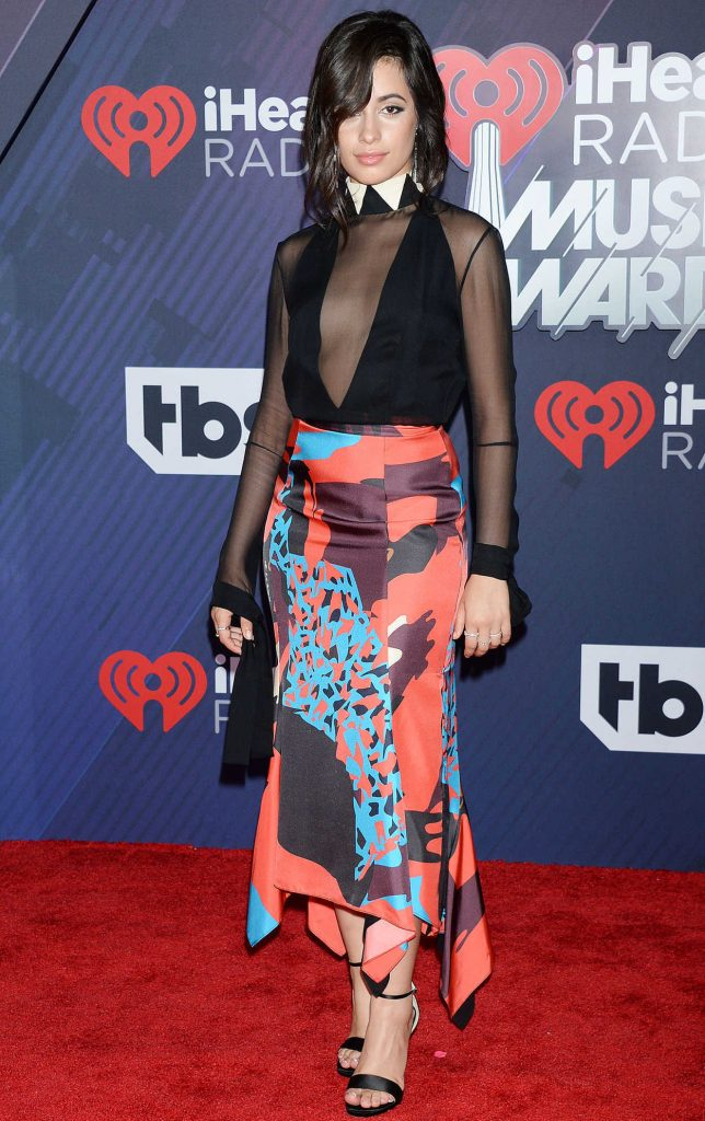 Camila Cabello at 2018 iHeartRadio Music Awards in Inglewood 03/11/2018-2