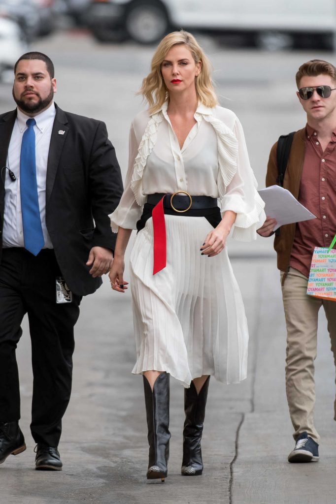 Charlize Theron Arrives on Jimmy Kimmel Live! in Hollywood 03/07/2018-1