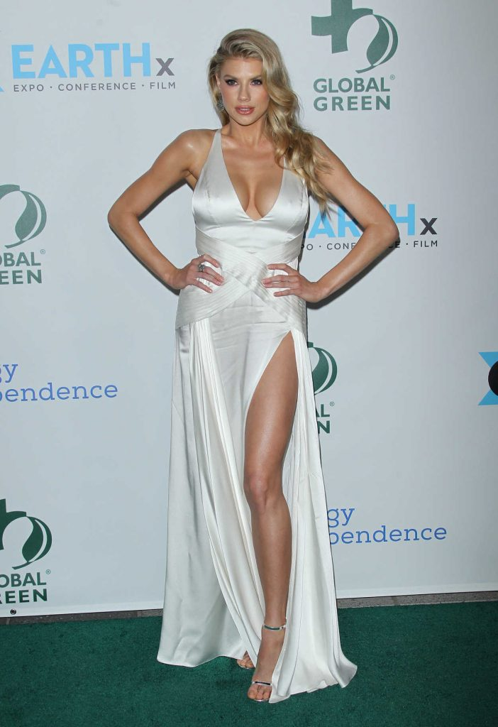 Charlotte McKinney at the 15th Annual Global Green Pre-Oscar Gala in Los Angeles 02/28/2018-1