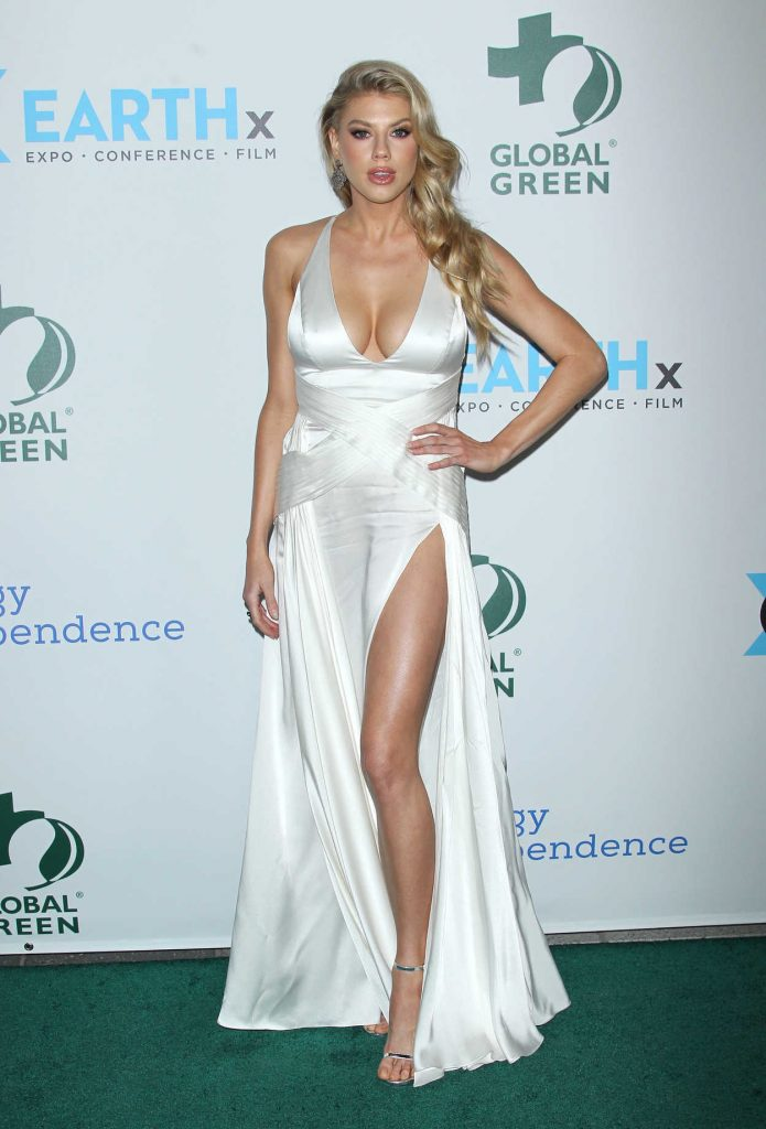Charlotte McKinney at the 15th Annual Global Green Pre-Oscar Gala in Los Angeles 02/28/2018-3