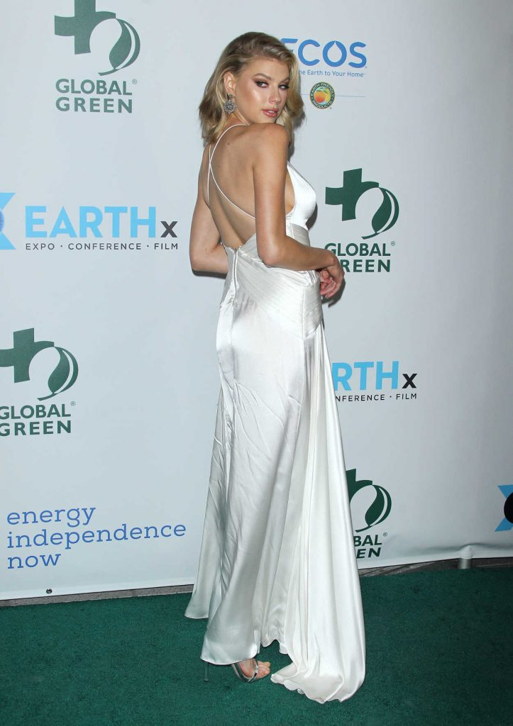 Charlotte McKinney at the 15th Annual Global Green Pre-Oscar Gala in Los Angeles 02/28/2018-4