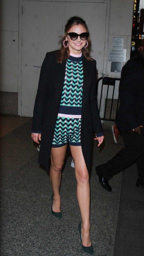 Christine Evangelista Arrives at TRL Live TV Show in New York 03/01/2018-2