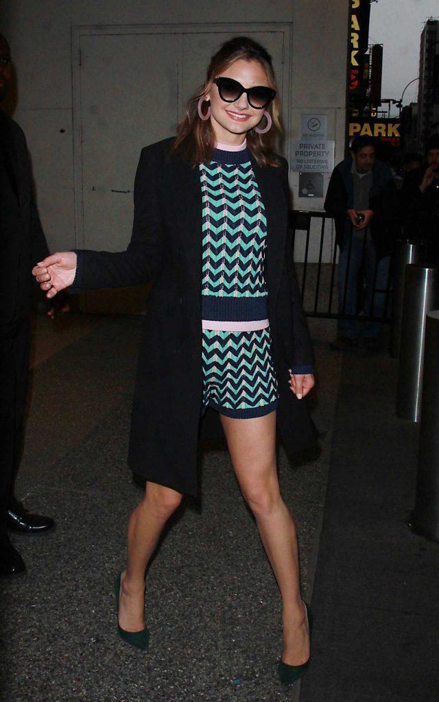 Christine Evangelista Arrives at TRL Live TV Show in New York 03/01/2018-4