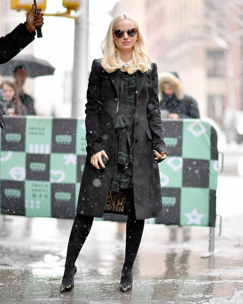 Dove Cameron Arrives at AOL Build Studios in New York City 03/21/2018-1