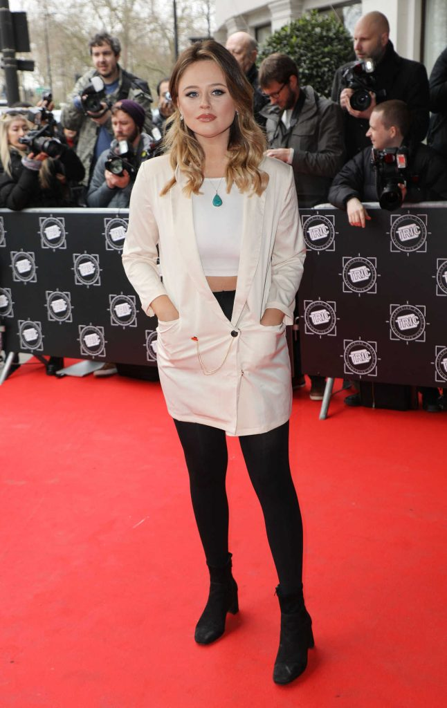 Emily Atack Attends 2018 TRIC Awards in London 03/13/2018-1