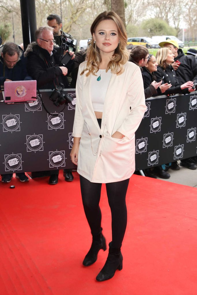 Emily Atack Attends 2018 TRIC Awards in London 03/13/2018-4