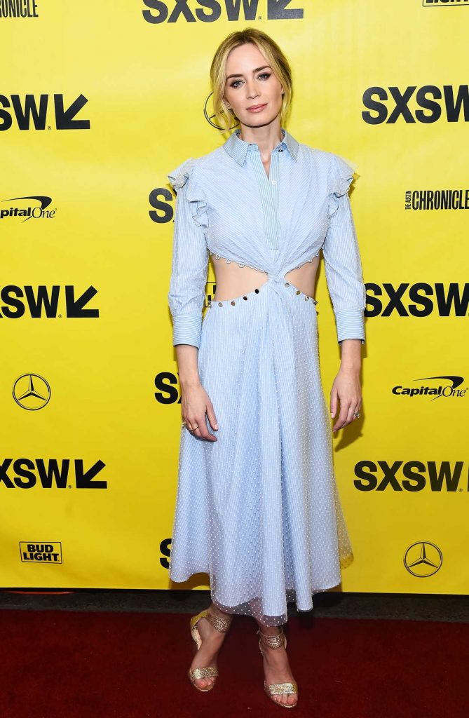 Emily Blunt at A Quiet Place Premiere During the SXSW Festival in Austin 03/09/2018-1