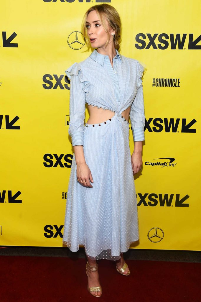 Emily Blunt at A Quiet Place Premiere During the SXSW Festival in Austin 03/09/2018-2