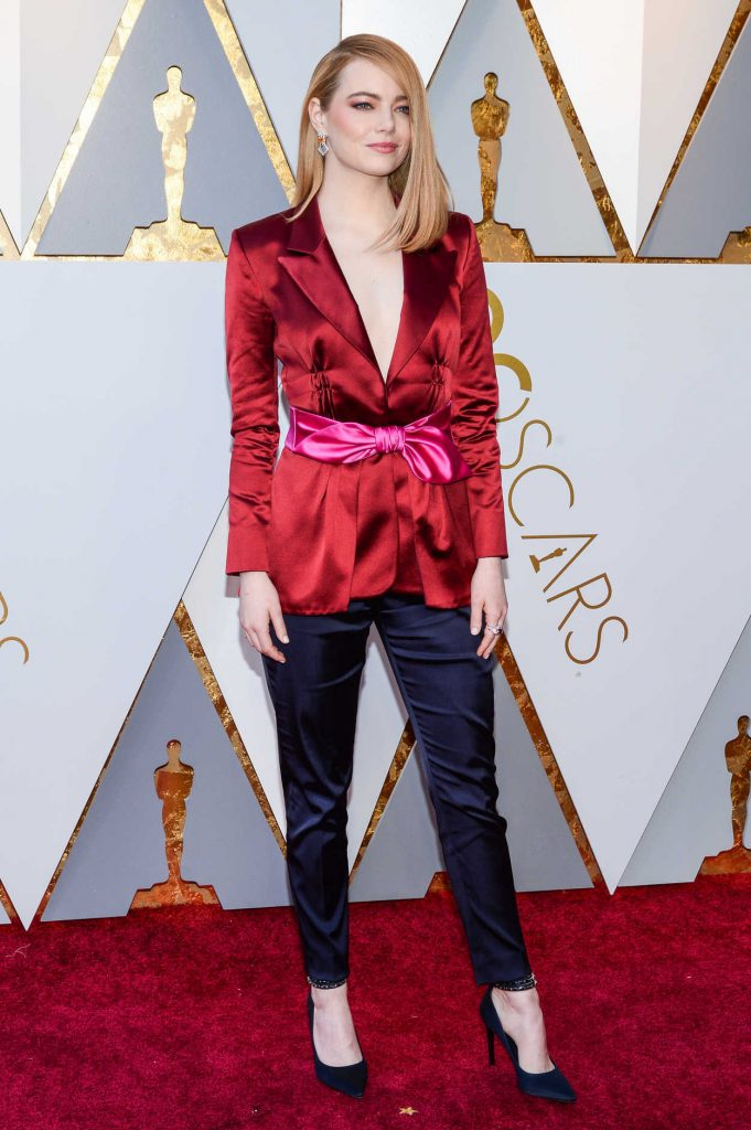 Emma Stone at the 90th Annual Academy Awards in Los Angeles 03/04/2018-1
