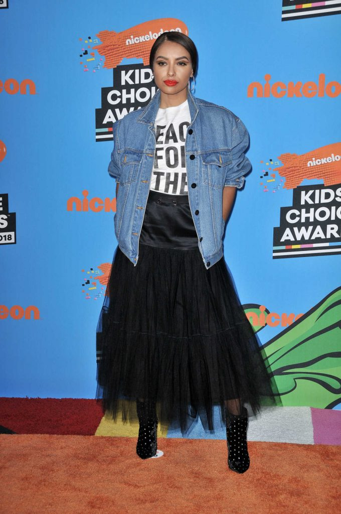 Kat Graham at 2018 Nickelodeon Kids' Choice Awards in Los Angeles 03/24/2018-4