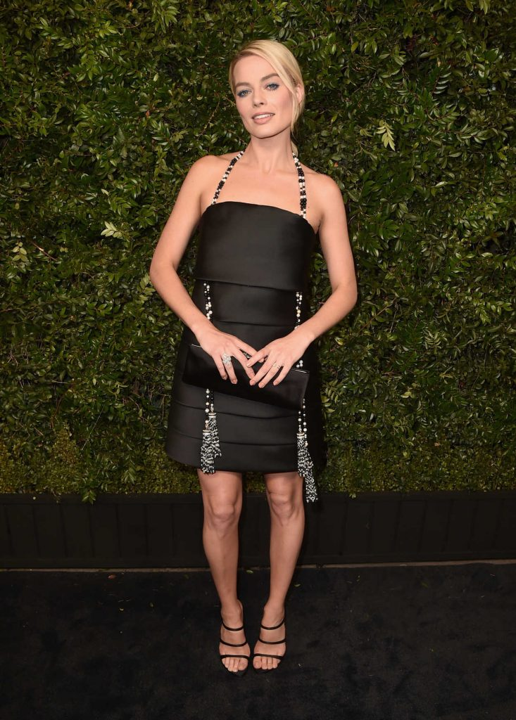 Margot Robbie at the Chanel and Charles Finch Pre-Oscar Dinner in Los Angeles 03/03/2018-1