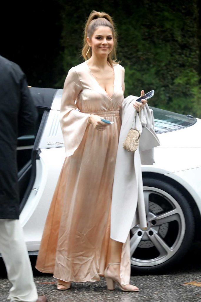 Maria Menounos Arrives at the Khloe Kardashian's Baby Shower in Bel Air 03/10/2018-1