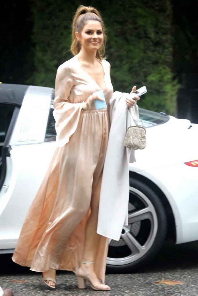 Maria Menounos Arrives at the Khloe Kardashian's Baby Shower in Bel Air 03/10/2018-2