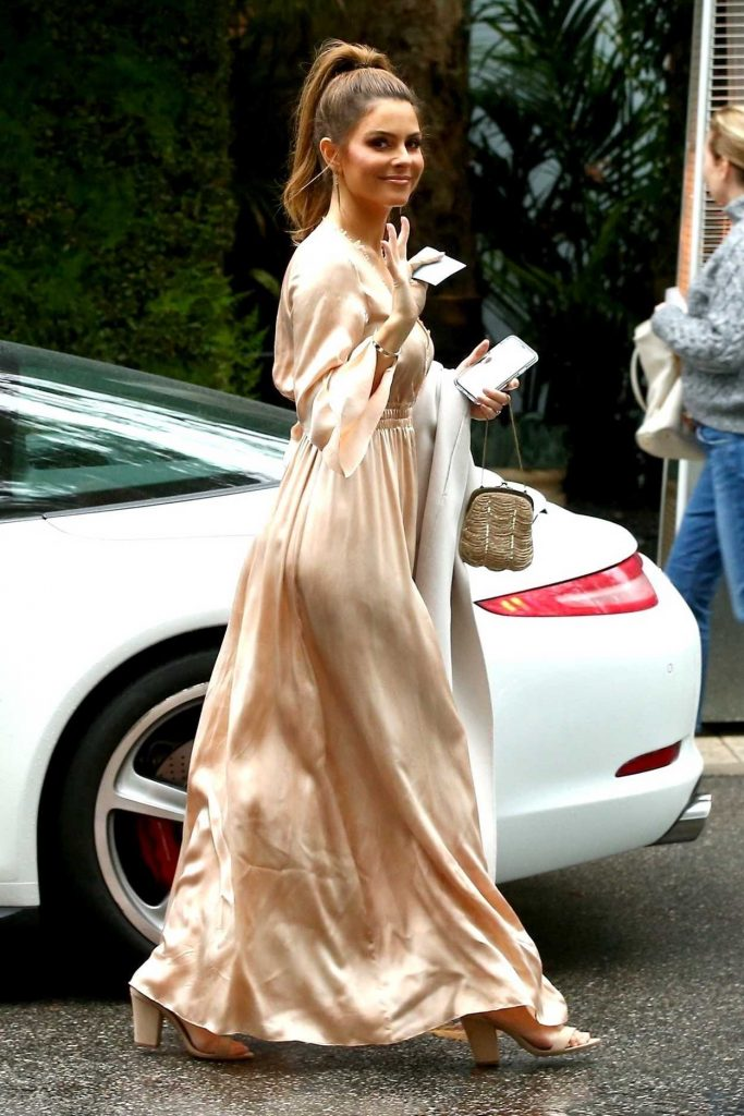 Maria Menounos Arrives at the Khloe Kardashian's Baby Shower in Bel Air 03/10/2018-3