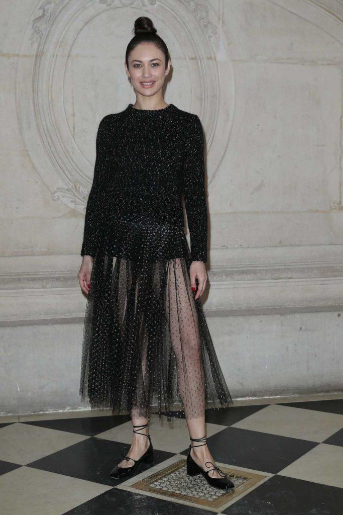 Olga Kurylenko Attends the Christian Dior Show During Paris Fashion Week in Paris 02/27/2018-1