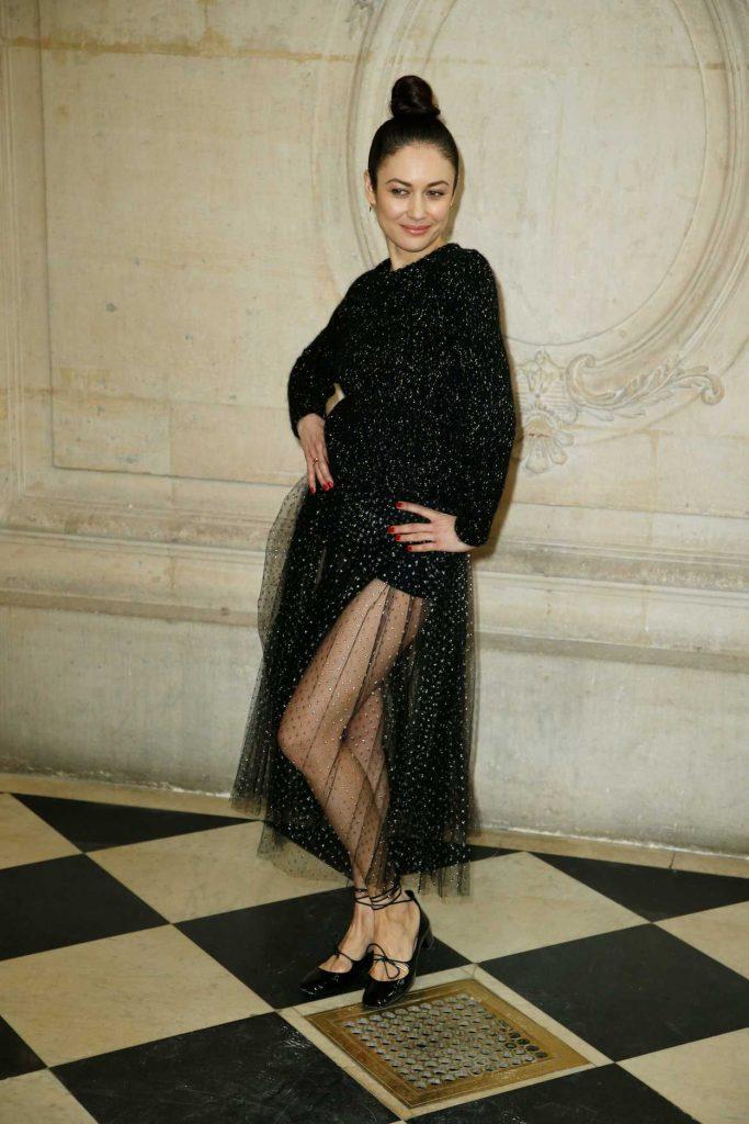Olga Kurylenko Attends the Christian Dior Show During Paris Fashion Week in Paris 02/27/2018-2