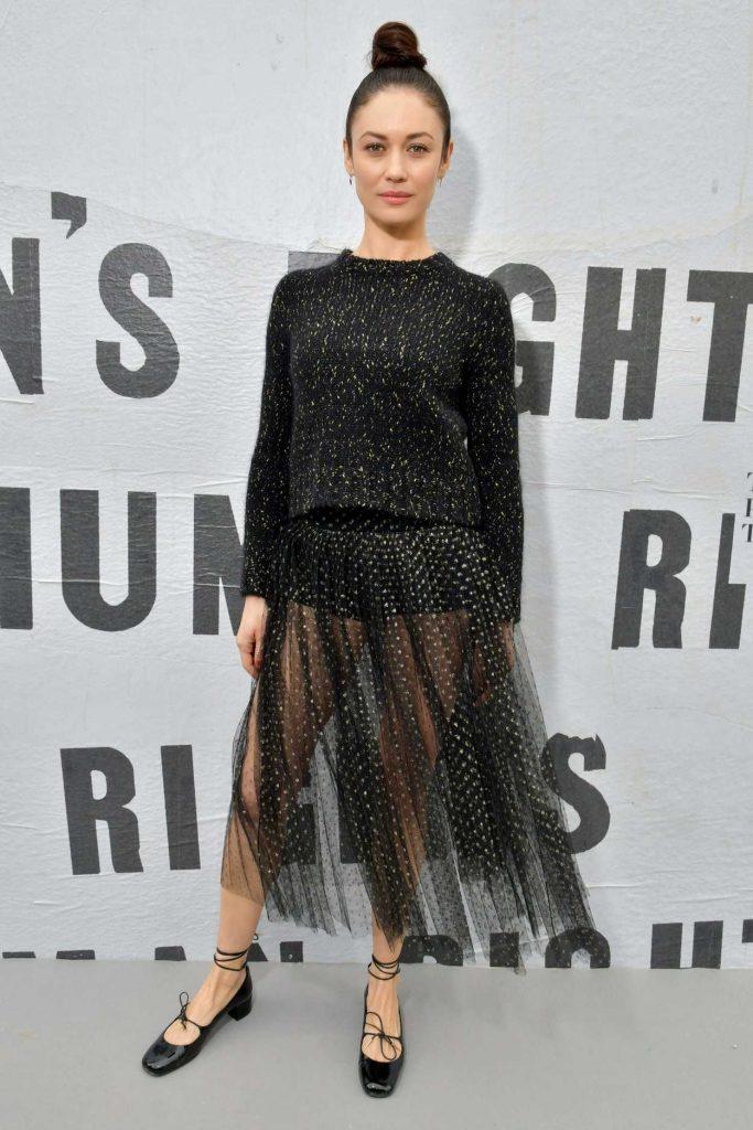 Olga Kurylenko Attends the Christian Dior Show During Paris Fashion Week in Paris 02/27/2018-3