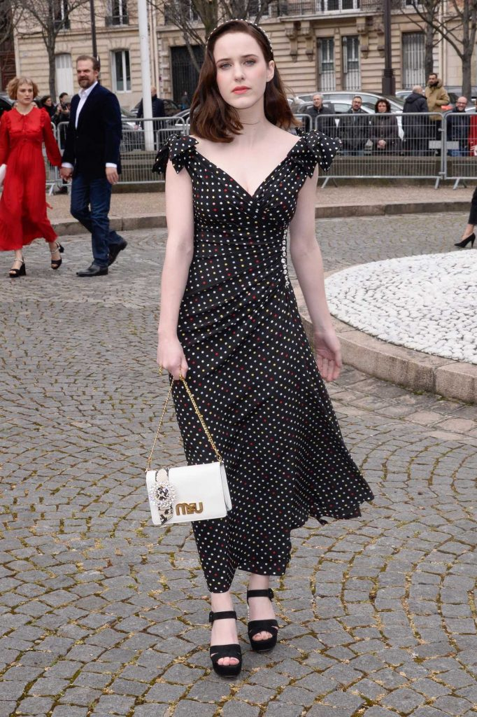Rachel Brosnahan at the Miu Miu Show During the Paris Fashion Week in Paris 03/06/2018-1