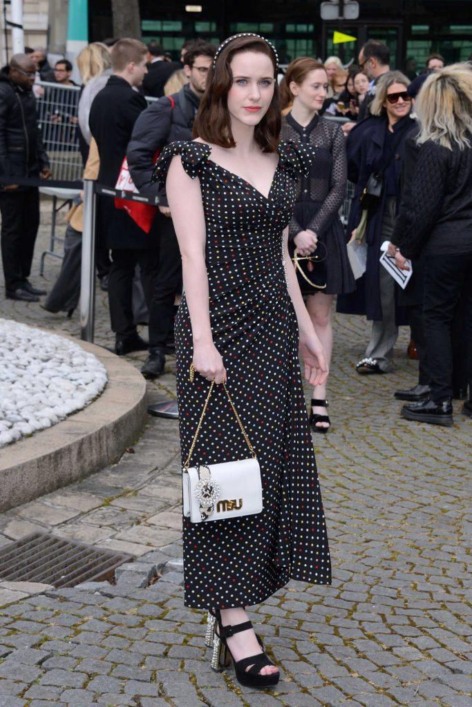 Rachel Brosnahan at the Miu Miu Show During the Paris Fashion Week in Paris 03/06/2018-2
