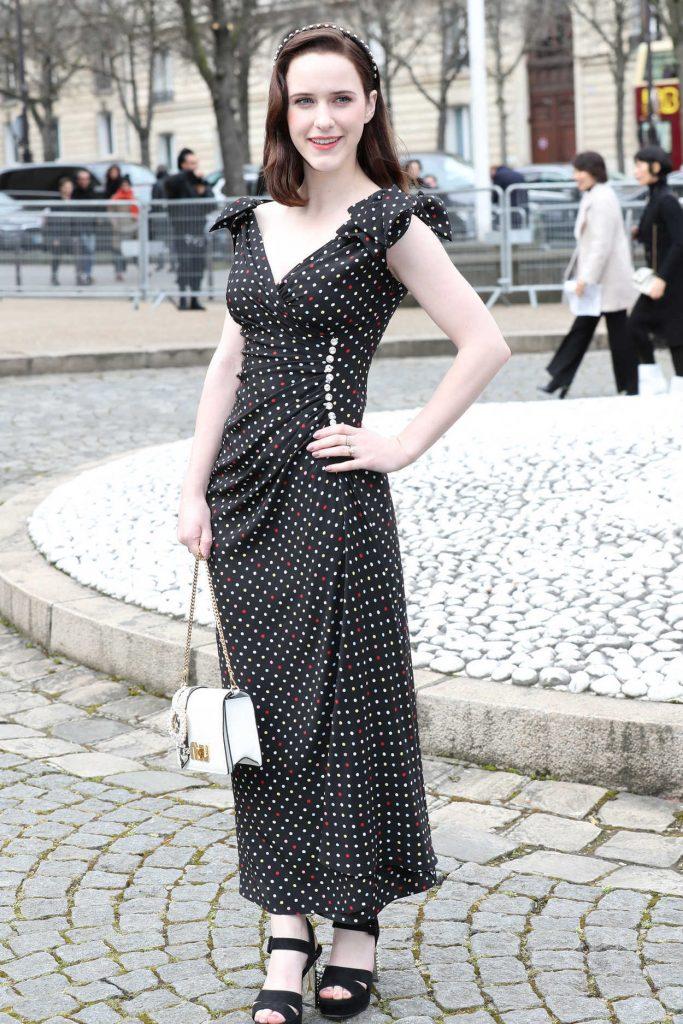 Rachel Brosnahan at the Miu Miu Show During the Paris Fashion Week in Paris 03/06/2018-3