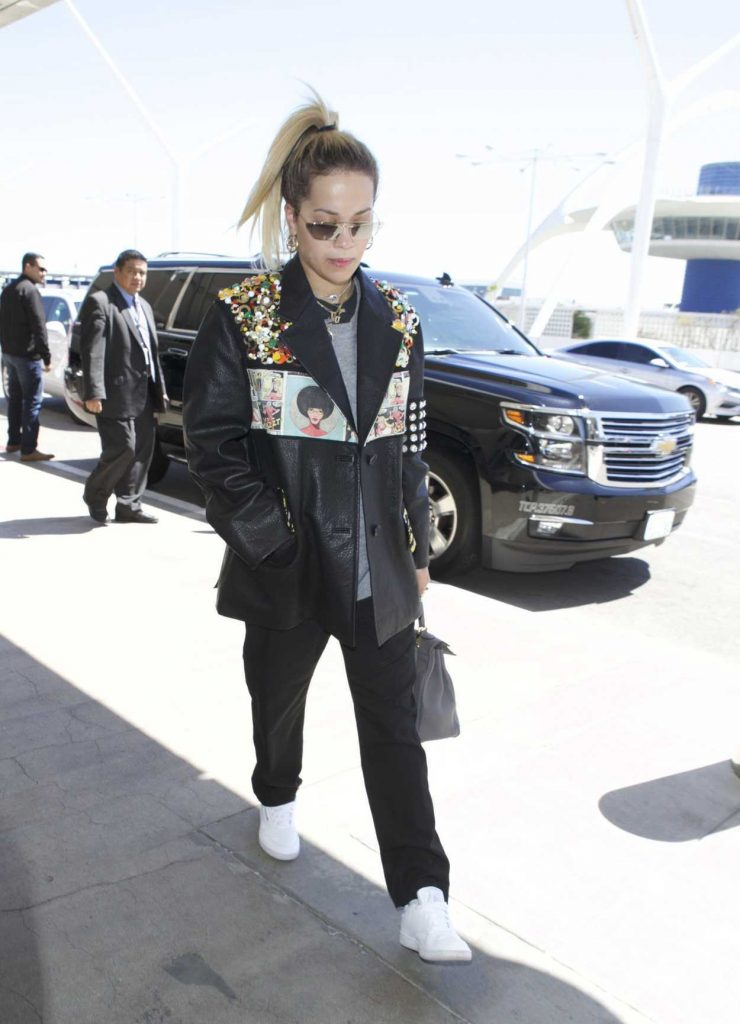 Rita Ora Arrives at LAX Airport in Los Angeles 03/28/2018-2