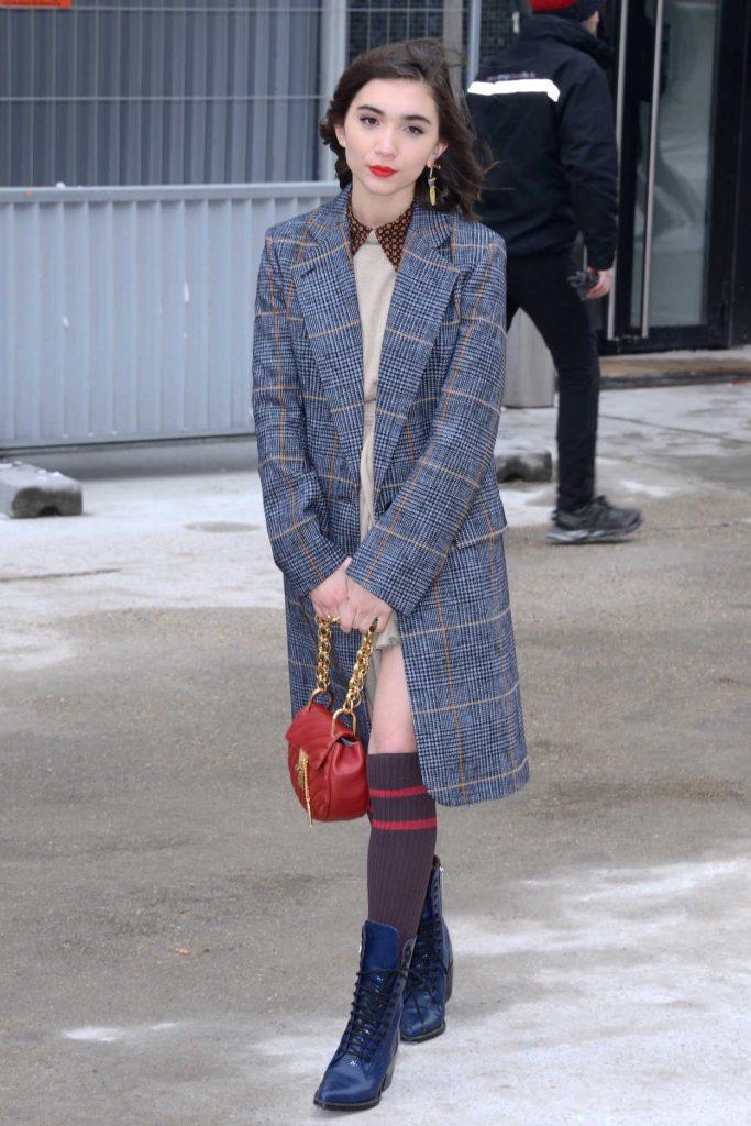 Rowan Blanchard Arrives at the Chloe Fashion Show During Paris Fashion Week in Paris 03/01/2018-1