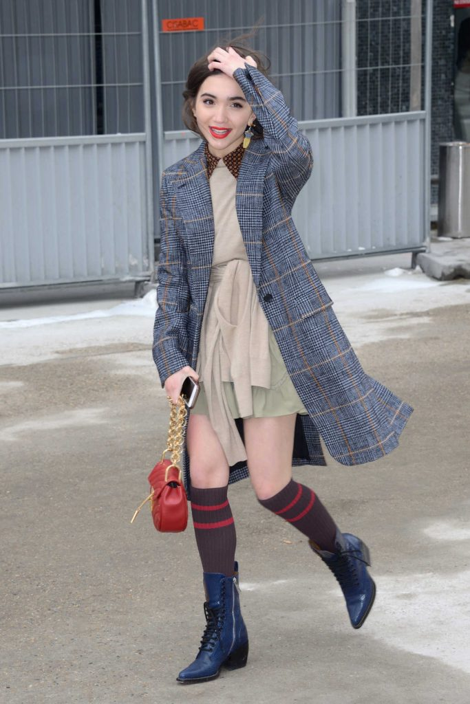 Rowan Blanchard Arrives at the Chloe Fashion Show During Paris Fashion Week in Paris 03/01/2018-2