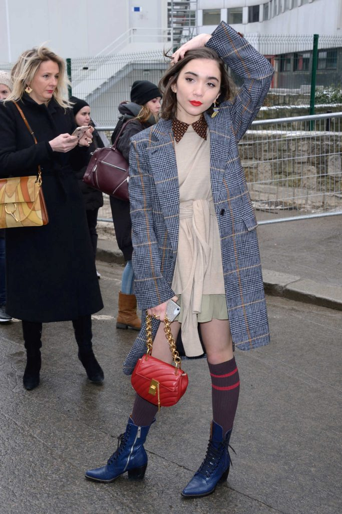 Rowan Blanchard Arrives at the Chloe Fashion Show During Paris Fashion Week in Paris 03/01/2018-3
