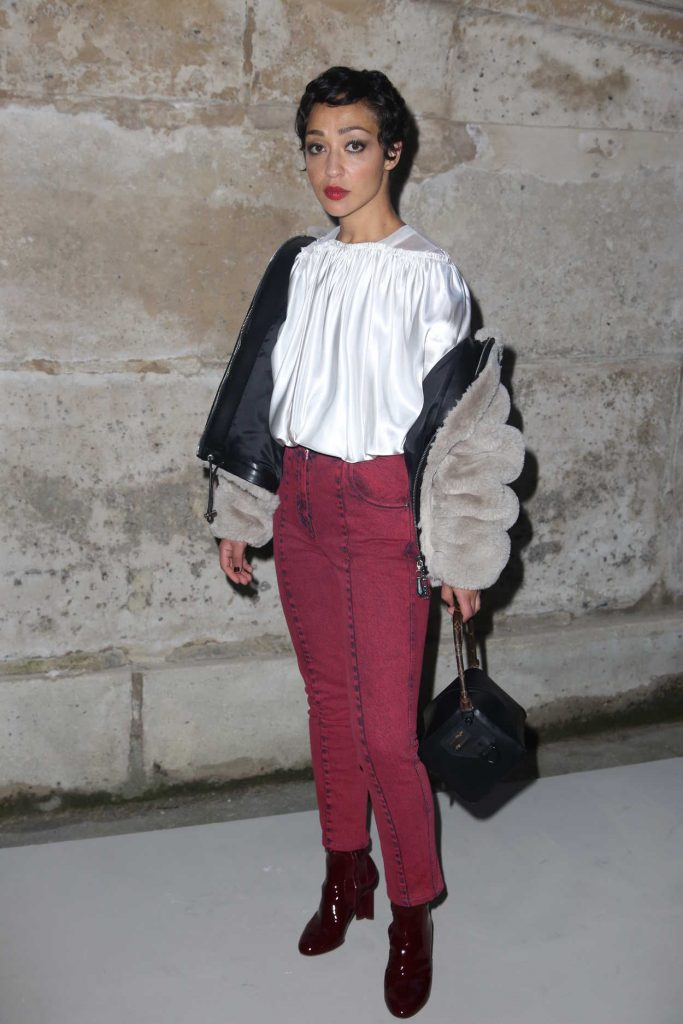 Ruth Negga at the Louis Vuitton Show During the Paris Fashion Week in Paris 03/06/2018-3