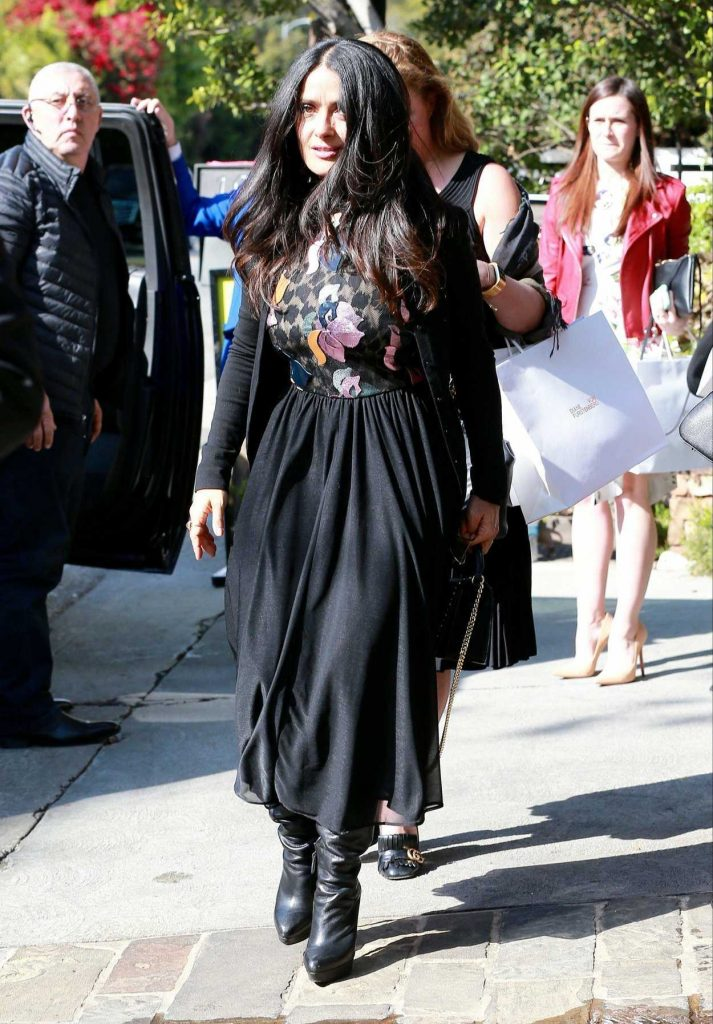 Salma Hayek Leaves a Pre-Oscars Event in Beverly Hills 02/28/2018-3