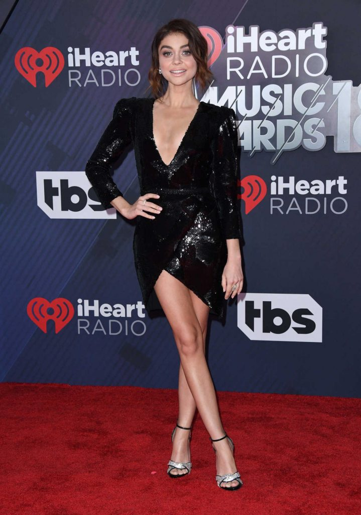 Sarah Hyland at 2018 iHeartRadio Music Awards in Inglewood 03/11/2018-1