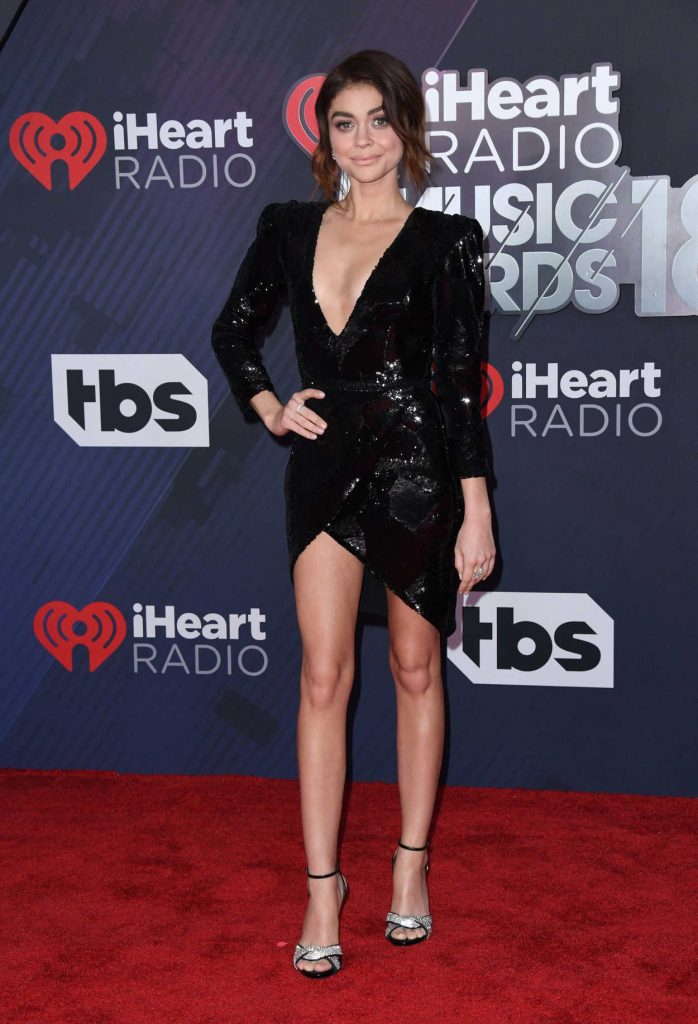 Sarah Hyland at 2018 iHeartRadio Music Awards in Inglewood 03/11/2018-2