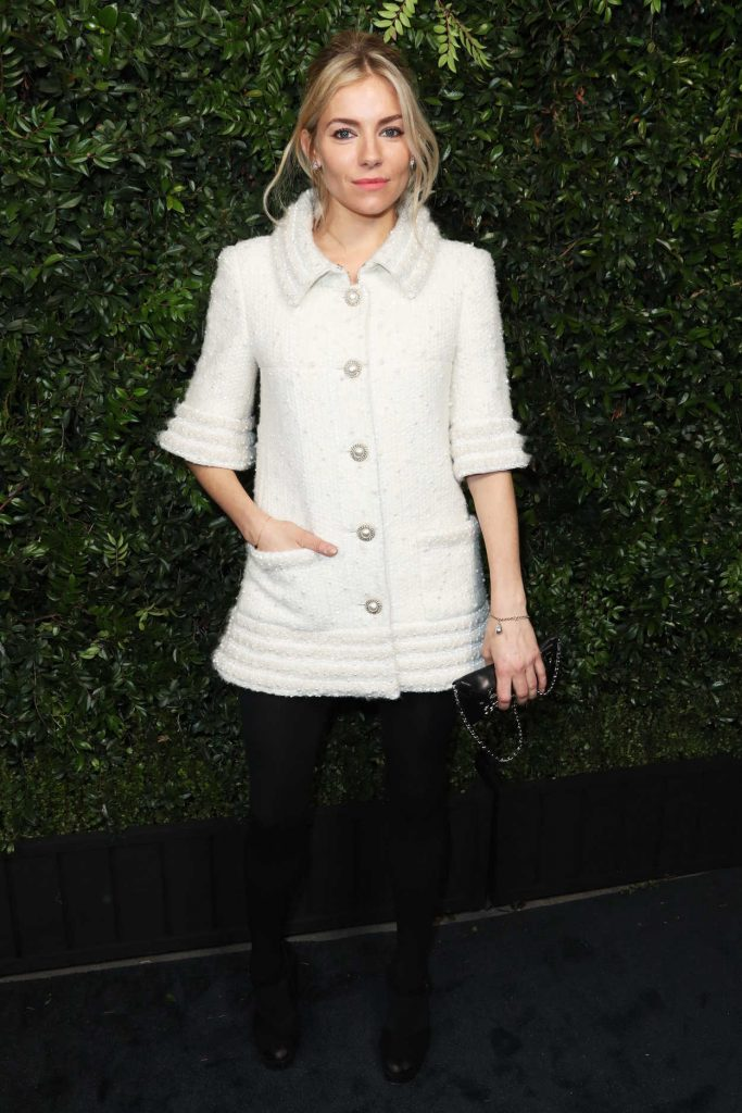 Sienna Miller at the Chanel and Charles Finch Pre-Oscar Dinner in Los Angeles 03/03/2018-1