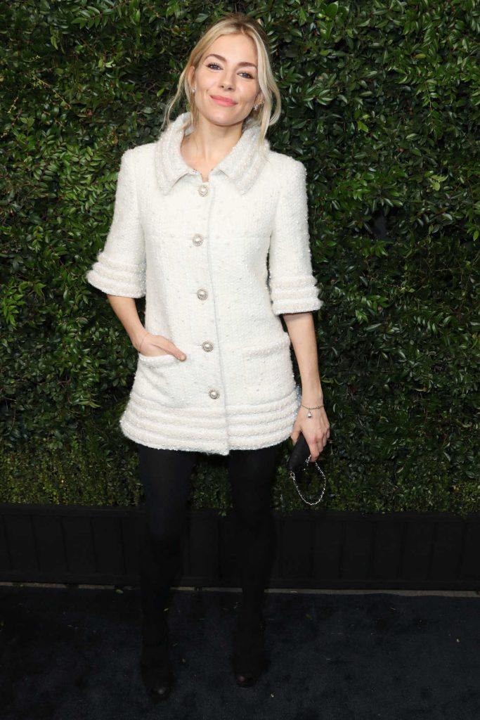 Sienna Miller at the Chanel and Charles Finch Pre-Oscar Dinner in Los Angeles 03/03/2018-2
