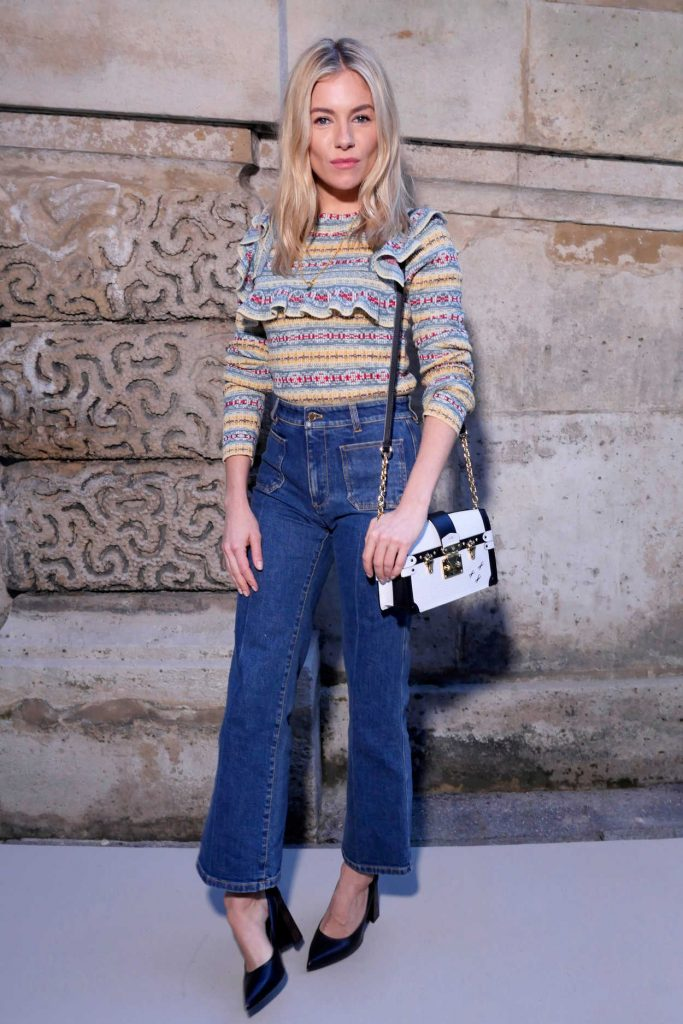 Sienna Miller at the Louis Vuitton Show During the Paris Fashion Week in Paris 03/06/2018-1