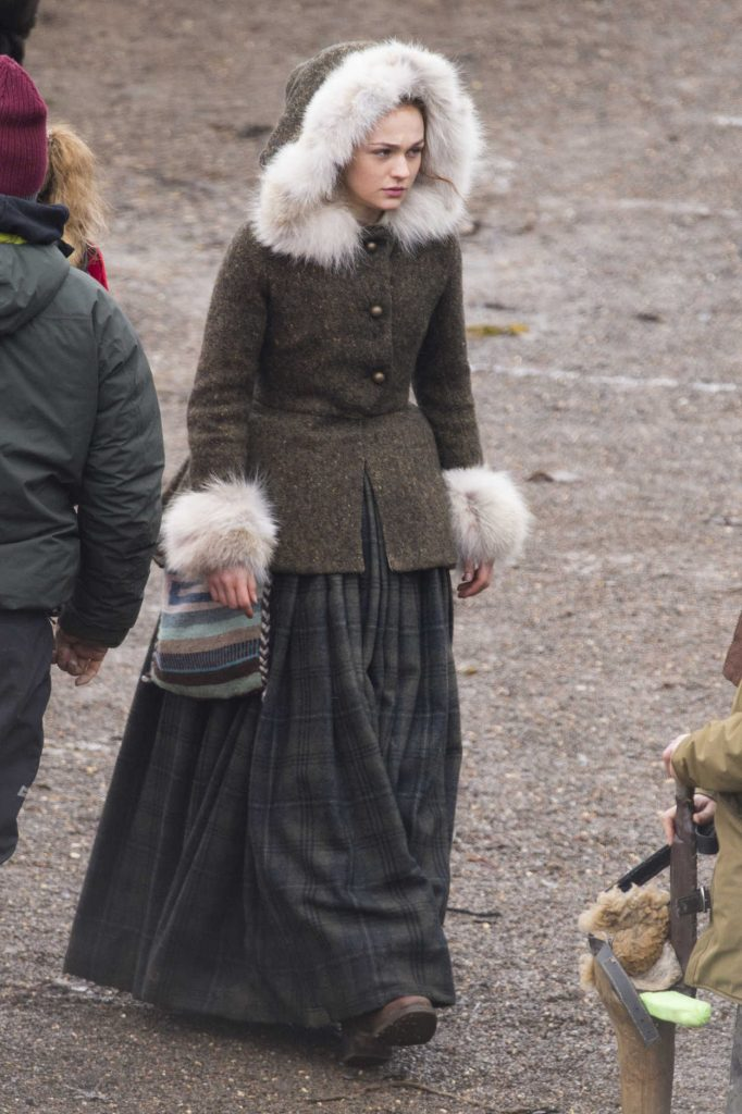 Sophie Skelton on the Set of Outlander Season 4 in Dunure, Scotland 03/06/2018-2