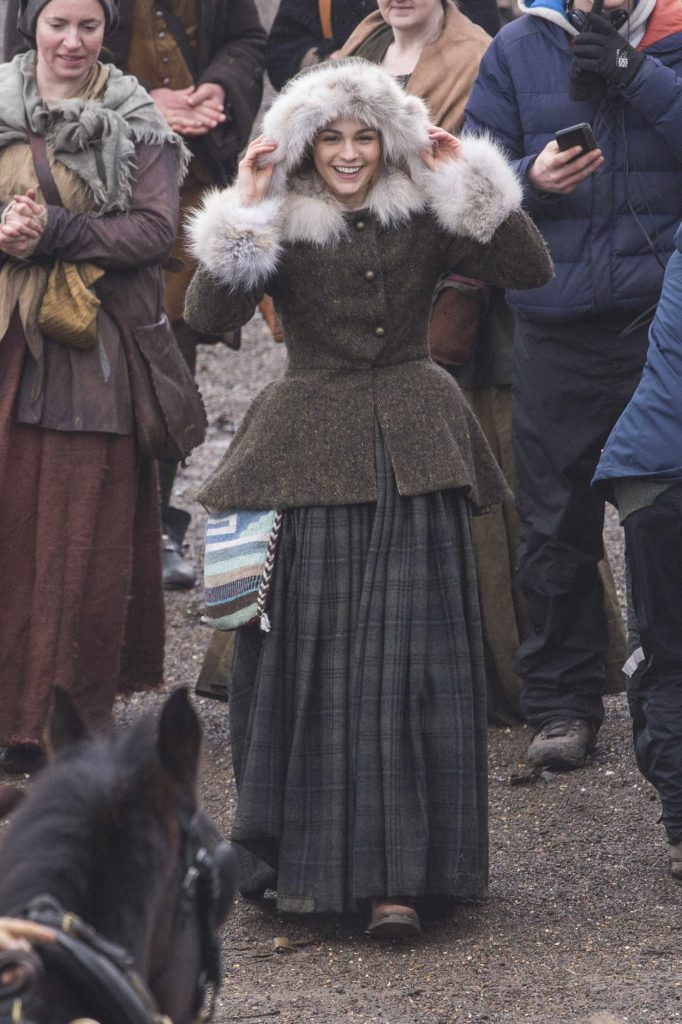 Sophie Skelton on the Set of Outlander Season 4 in Dunure, Scotland 03/06/2018-3
