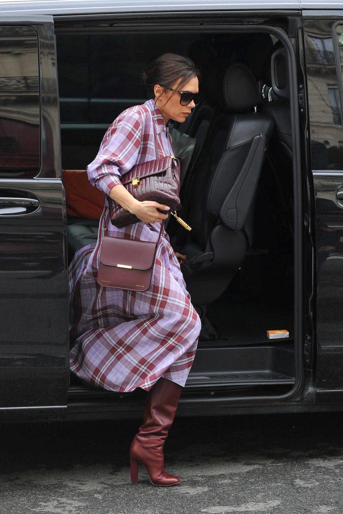 Victoria Beckham Arrives at the MusÈe des Arts DÈcoratifs Museum in Paris 03/28/2018-1