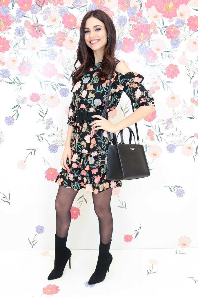 Victoria Justice at the Kate Spade Bloom Bloom Event in New York 03/20/2018-2