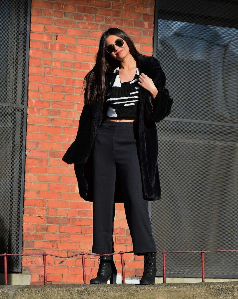 Victoria Justice Wears a Black Fur Coat in Dumbo, Brooklyn in NYC 03/20/2018-2
