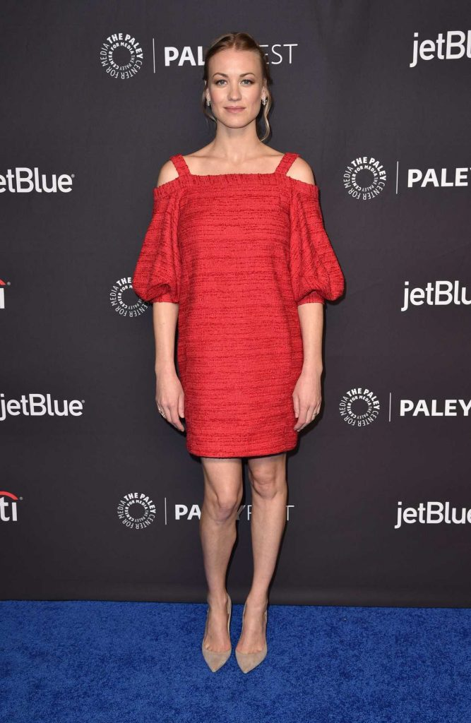 Yvonne Strahovski at the Handmaids Tale Screening for Media's 35th Annual PaleyFest in Los Angeles 03/18/2018-1