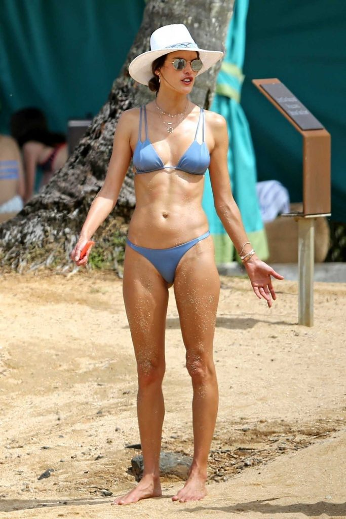 Alessandra Ambrosio in Bikini on the Beach in Hawaii 04/06/2018-1
