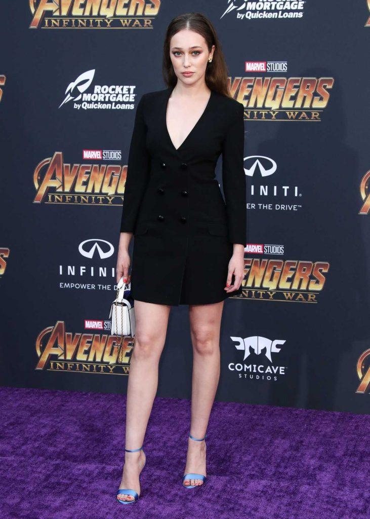 Alycia Debnam Carey at Avengers: Infinity War Premiere in Los Angeles 04/23/2018-1