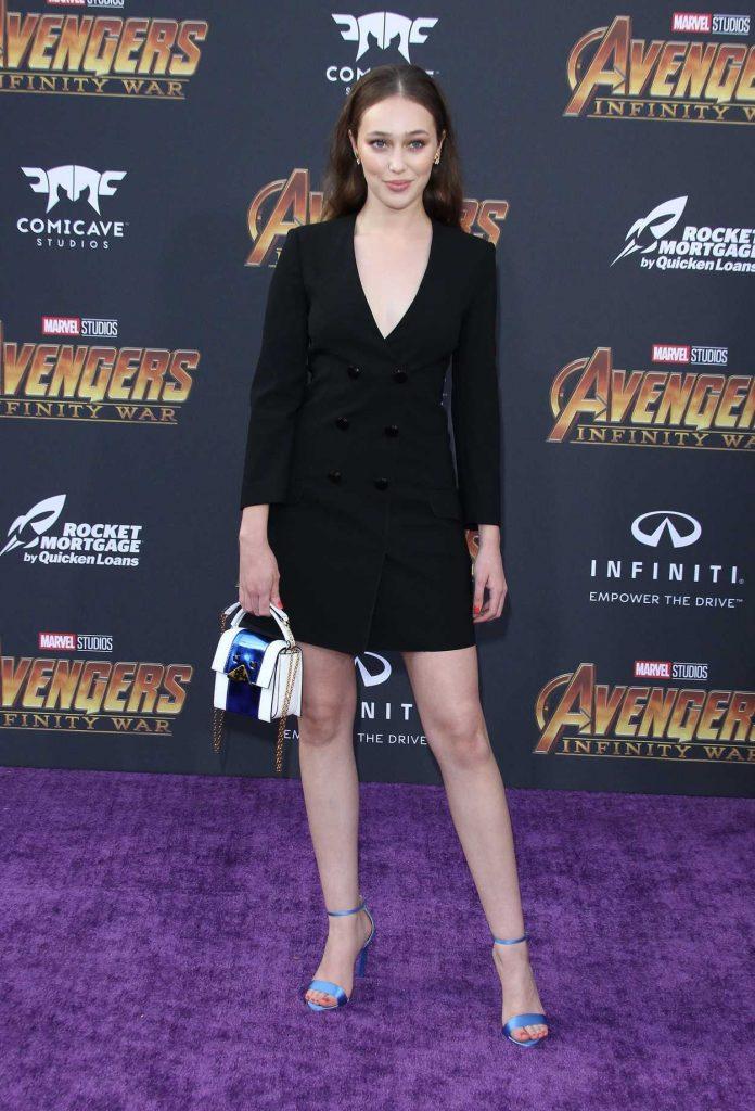Alycia Debnam Carey at Avengers: Infinity War Premiere in Los Angeles 04/23/2018-2