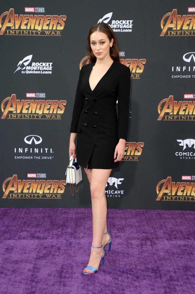 Alycia Debnam Carey at Avengers: Infinity War Premiere in Los Angeles 04/23/2018-3