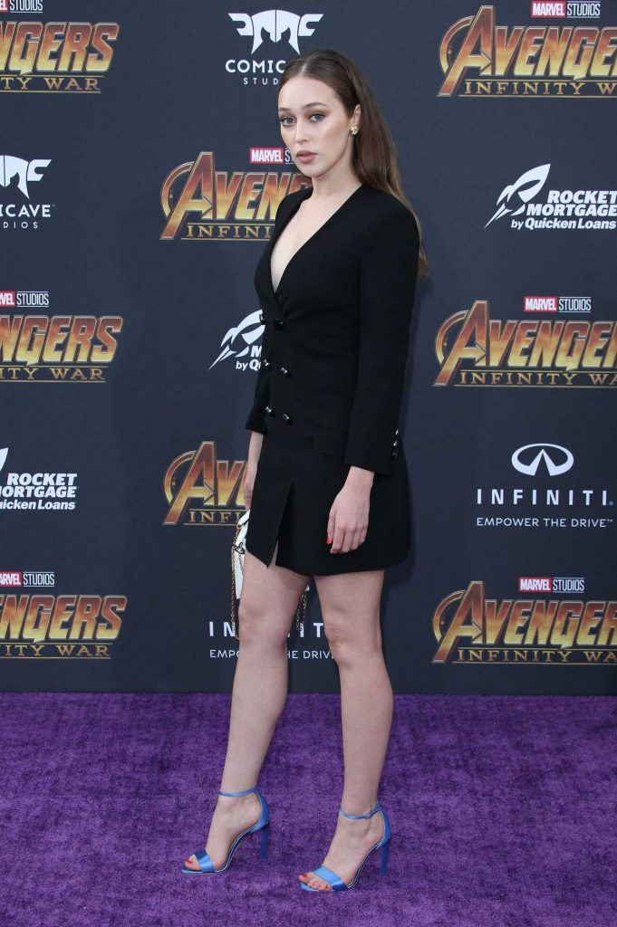 Alycia Debnam Carey at Avengers: Infinity War Premiere in Los Angeles 04/23/2018-4