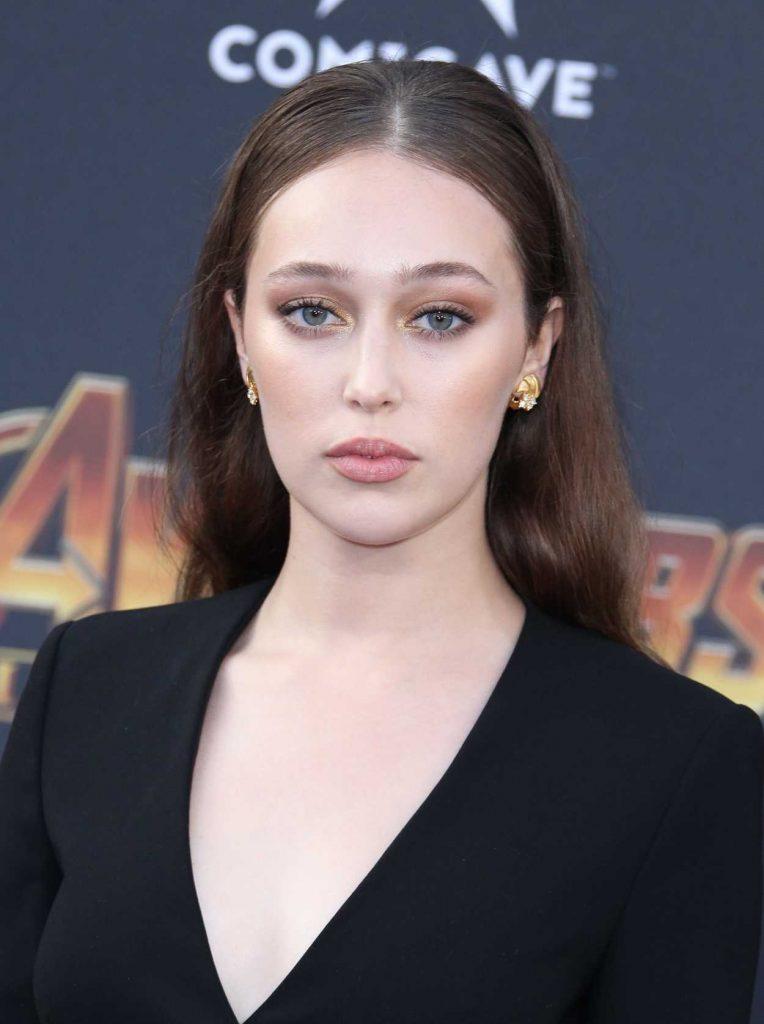 Alycia Debnam Carey at Avengers: Infinity War Premiere in Los Angeles 04/23/2018-5