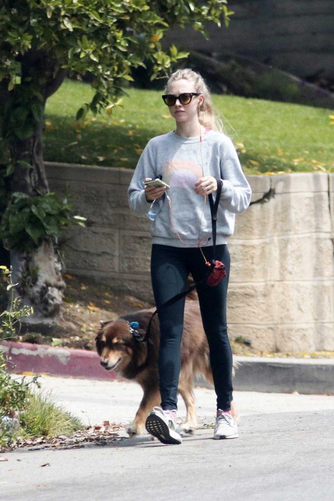 Amanda Seyfried Walks Her Dog Finn in Los Angeles 04/05/2018-1